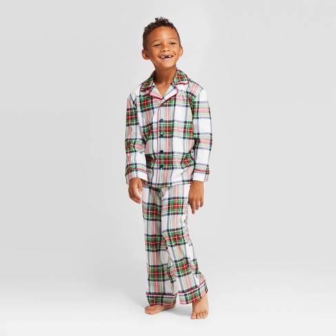 Kids' Plaid Holiday Tartan Pajama Set - Wondershop™ - image 1 of 4