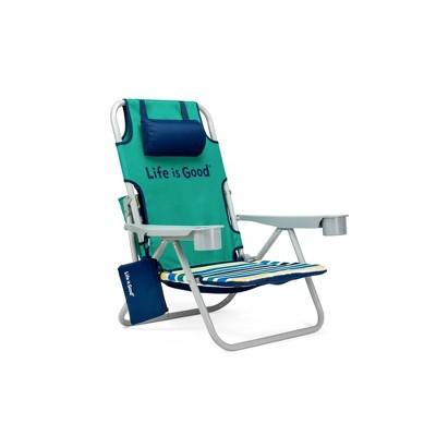 Aluminum Folding and Reclining Beach Chair Rocket Green - Life is Good