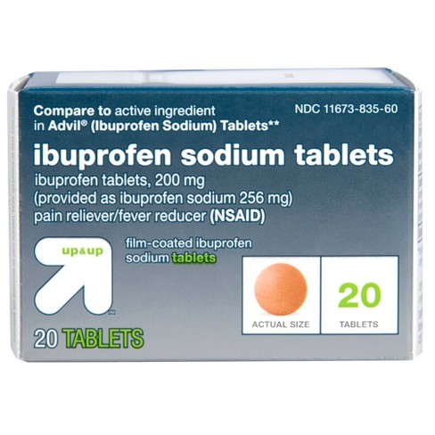 Ibuprofen (NSAID) Pain Reliever & Fever Reducer Tablets - Up&Up™ - image 1 of 4