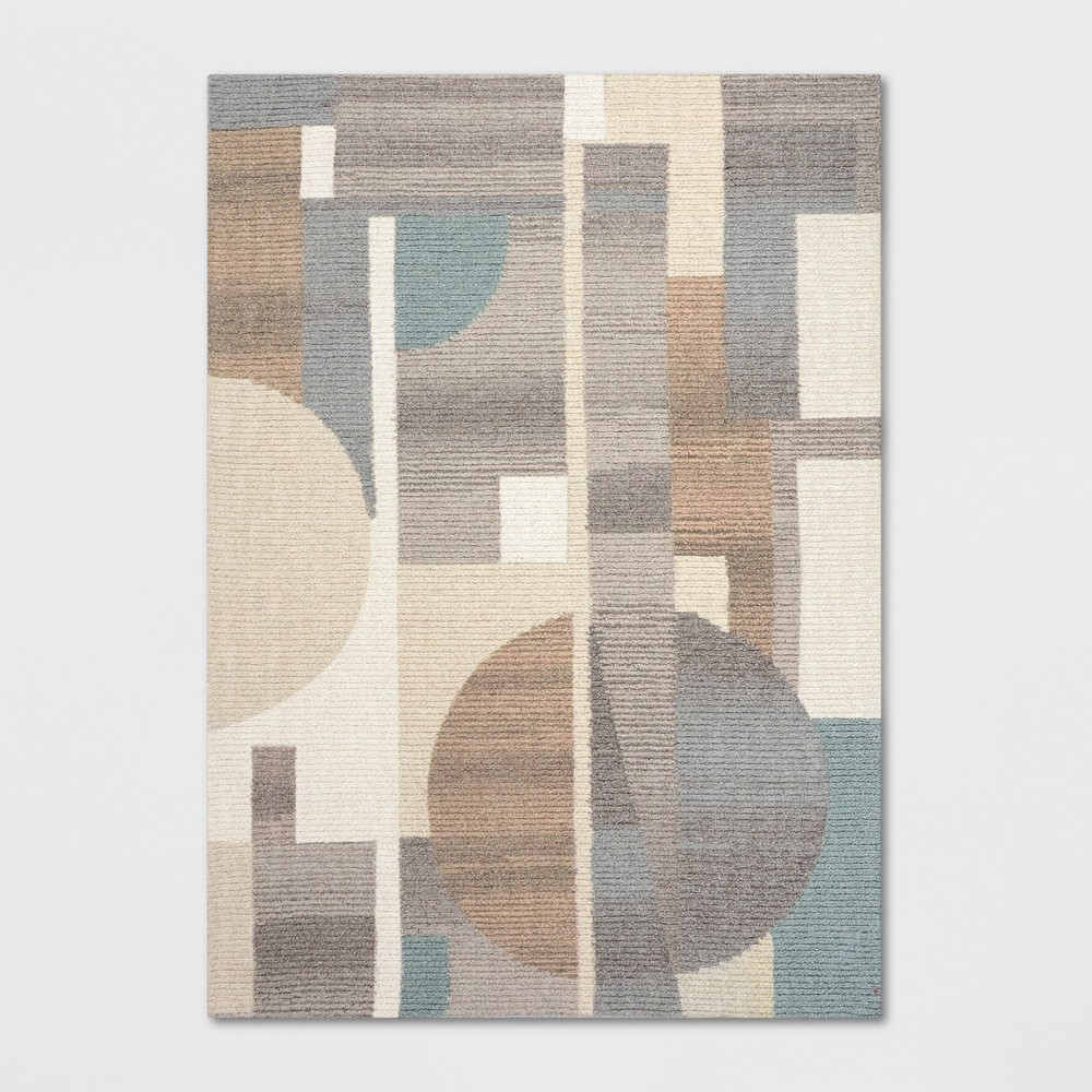 5'X7' Tufted Color Block Area Rug Blue - Project 62