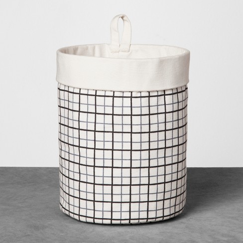 Canvas Storage Bin Large - Blue/Black - Hearth & Hand™ with Magnolia - image 1 of 3