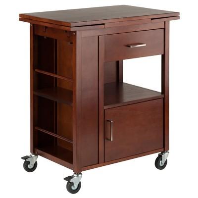 Gregory Kitchen Cart Walnut - Winsome