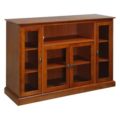 """Summit Highboy TV Stand for TVs up to 60"""" Cherry - Breighton Home"""