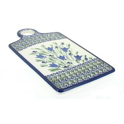 Blue Rose Polish Pottery Blue Tulip Cutting Board