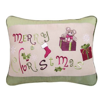 """C&F Home 12"""" x 16"""" Merry Christmas Embroidered Pillow"""