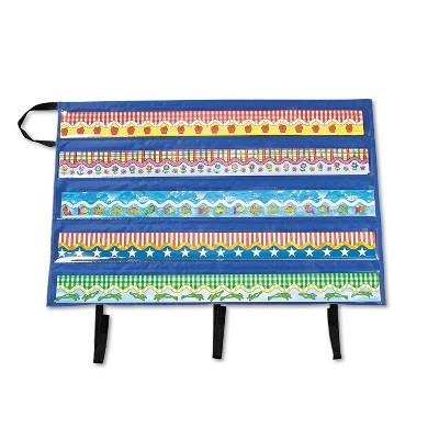 "Carson-Dellosa Publishing Border Storage Pocket Chart Blue/Clear 41"" x 24 1/2"" CD5652"