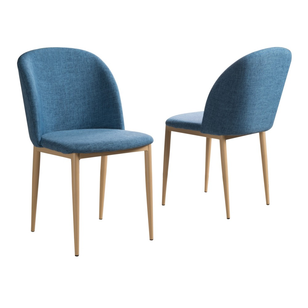 Anneliese Dining Chair - Muted Blue (Set of 2) - Christopher Knight Home