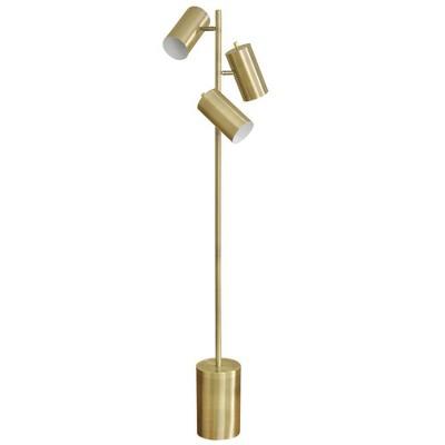 "63"" LED Adjustable Floor Lamp Antique Brass - StyleCraft"