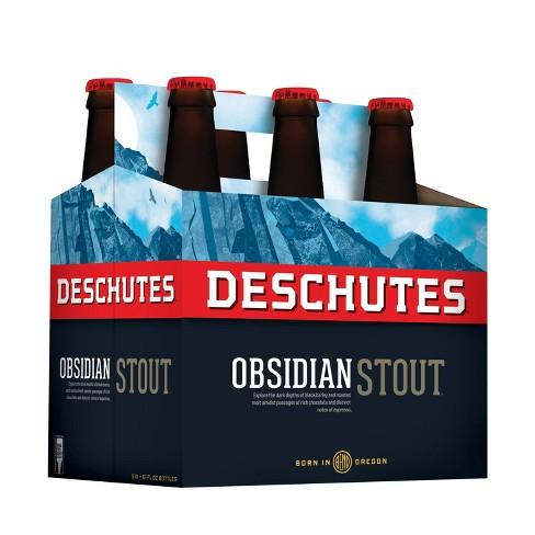 Deschutes Obsidian Stout Beer - 6pk/12 fl oz Bottles - image 1 of 1