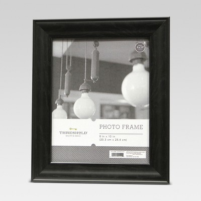 8 x10  Black Wood Grain Frame - Threshold™