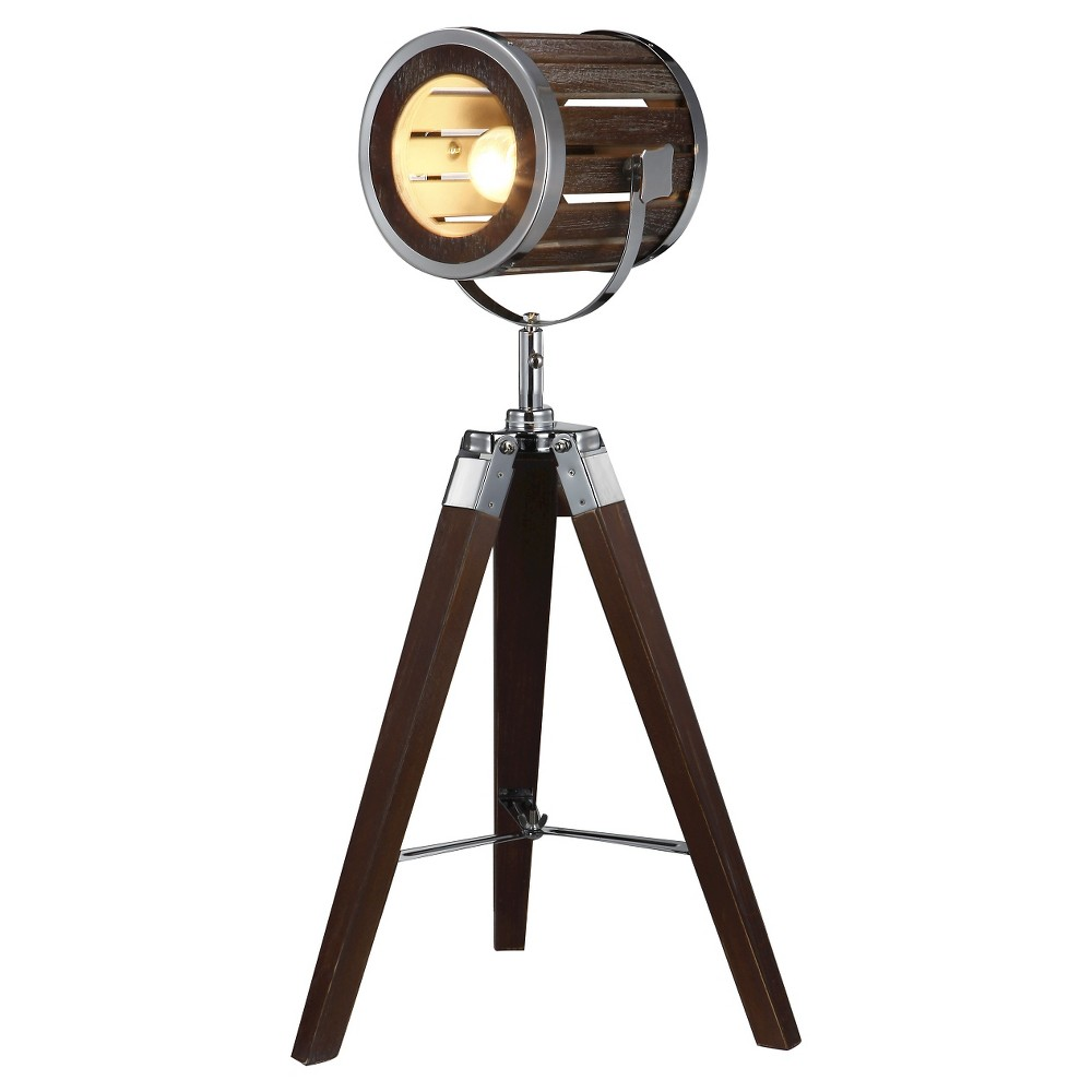 Image of A&b Home Tripod Table Lamp - Dark Chestnut