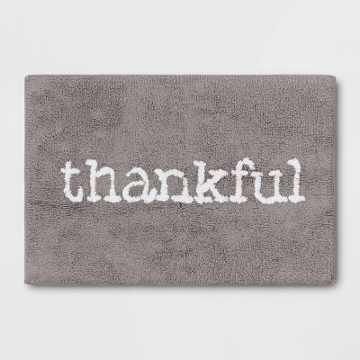 "19""x28"" Thankful Tufted Bath Rug Gray - Threshold™"