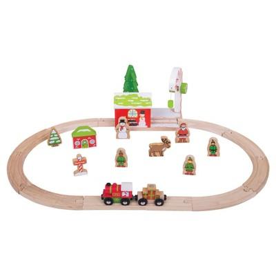 Bigjigs Rail Winter Wonderland Wooden Railway Train Set
