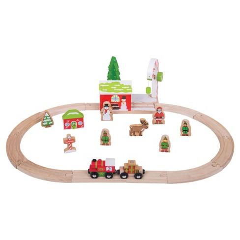 Bigjigs Rail Winter Wonderland Wooden Railway Train Set - image 1 of 2