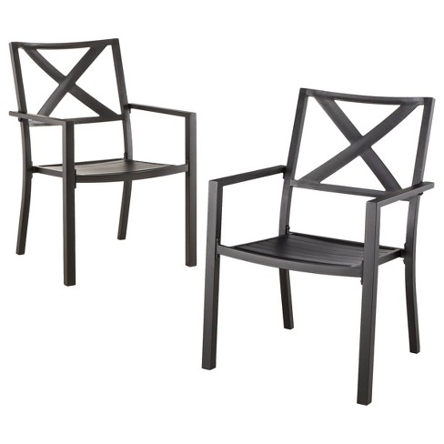 afton 2 piece metal stacking patio chair set threshold - Target Patio Chairs