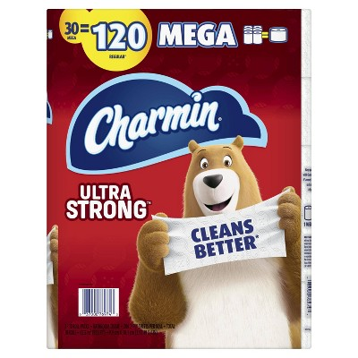 Charmin Ultra Strong Toilet Paper - 30 Mega Rolls