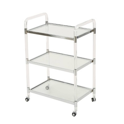 Emilie Acrylic Bar Trolley Clear   Christopher Knight Home by Christopher Knight Home