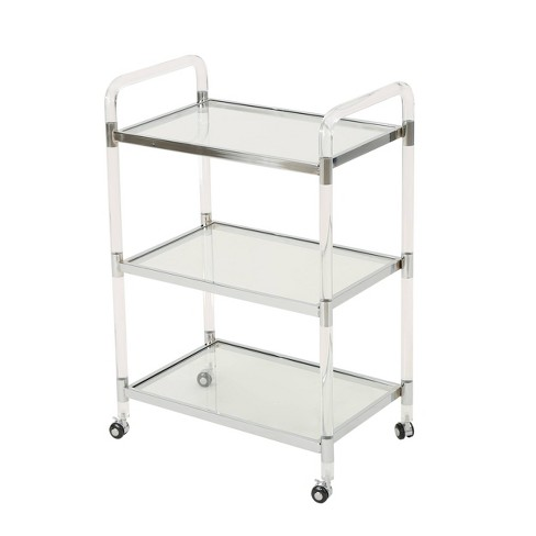 Emilie Acrylic Bar Trolley Clear - Christopher Knight Home - image 1 of 7