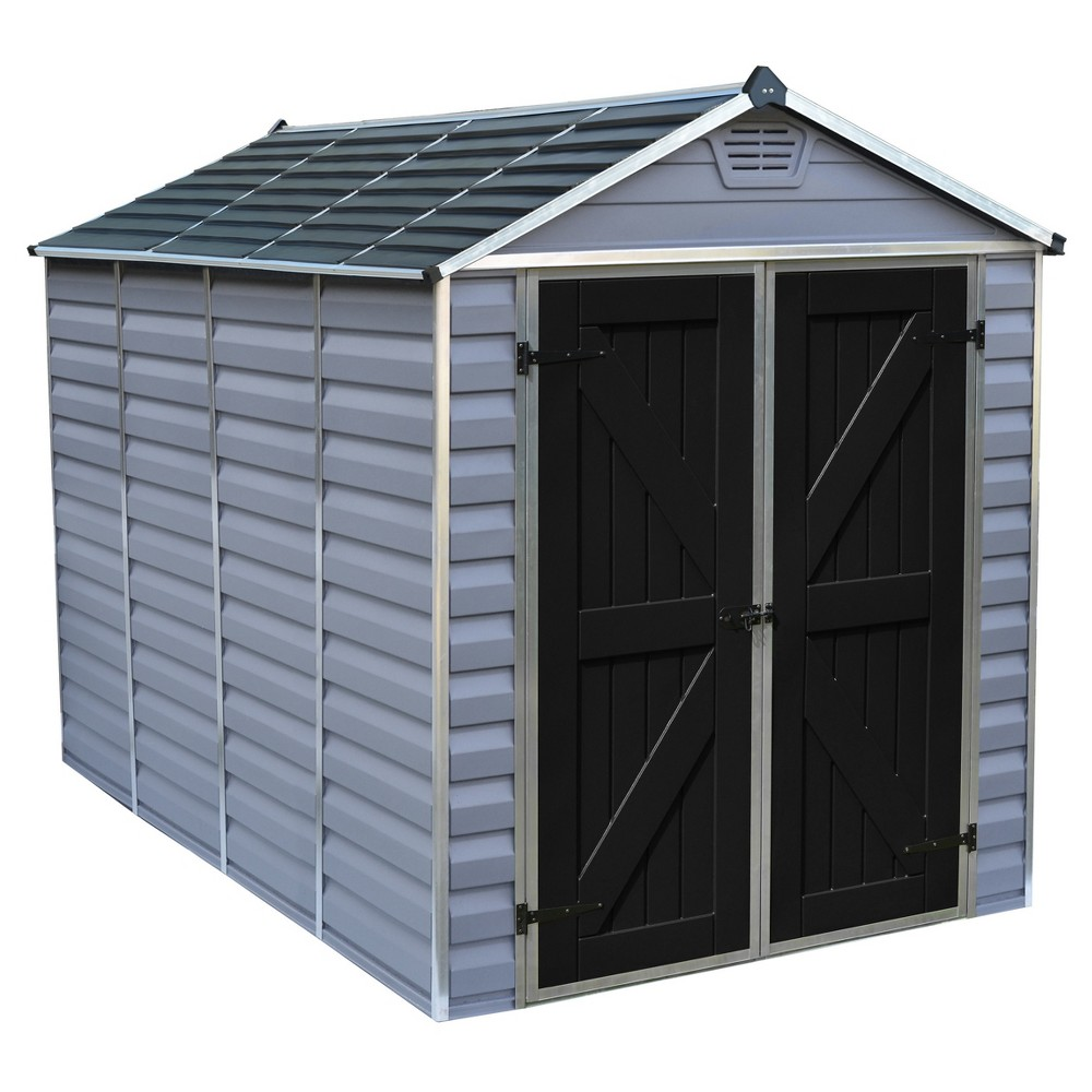 Image of 6'X10' Skylight Shed - Gray - Palram
