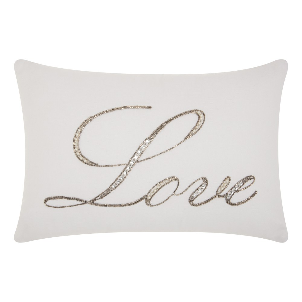 Image of White Letters Throw Pillow - Mina Victory
