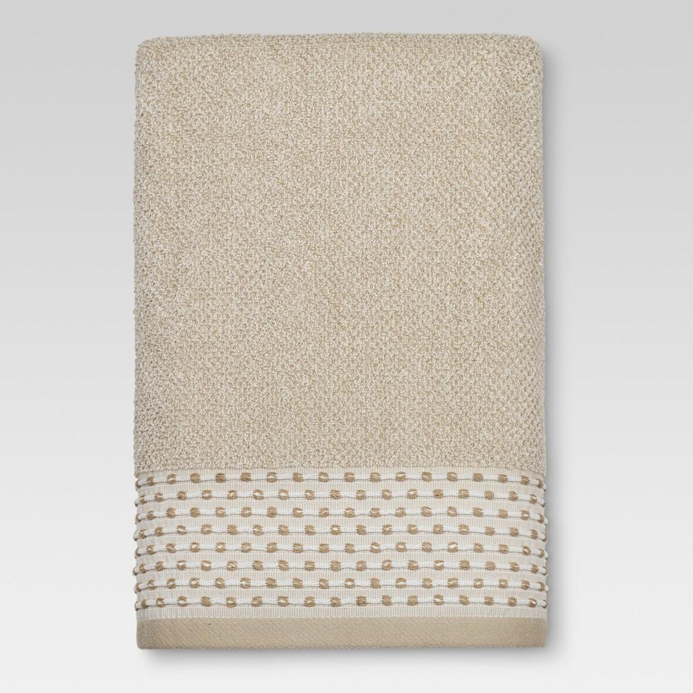 Image of Bath Towels Tan Dot Border Brown - Threshold - Threshold