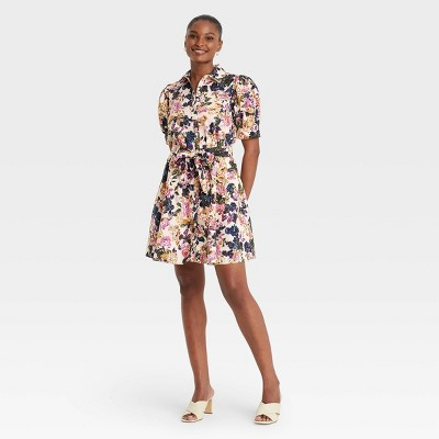 Women's Puff Short Sleeve Shirtdress - Who What Wear™
