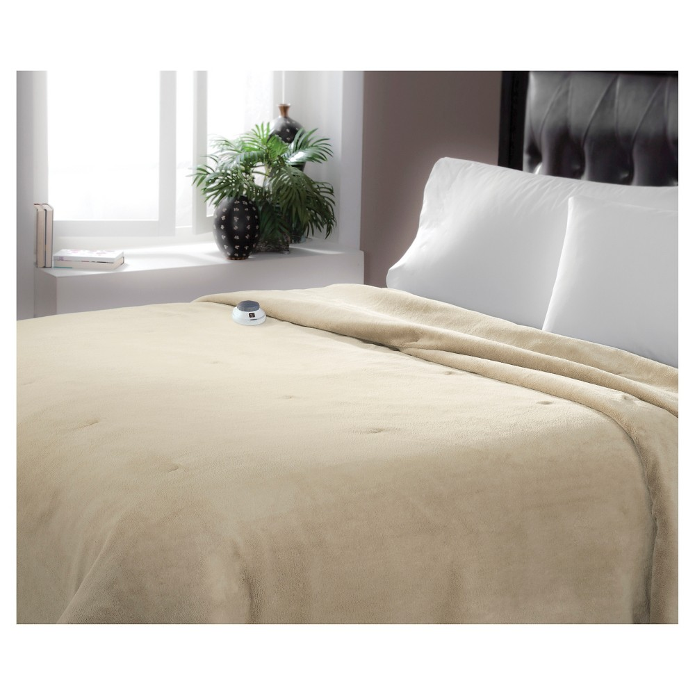 Luxe Plush Warming Blanket (Twin) Pearl (White) - Soft Heat