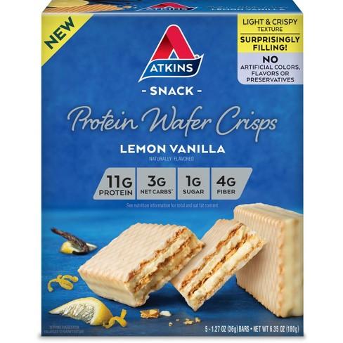 Atkins Protein Wafer Crisps - Lemon Vanilla - 5ct - image 1 of 1