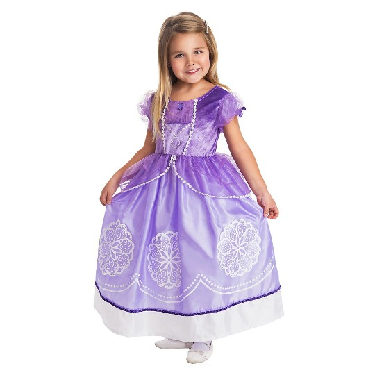 Little Adventures Girls' Amulet Princess Dress - S, Size: Small, Purple/White image number null