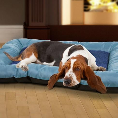 """Petmaker Plush Cozy Pet Bed 24""""x19"""" - Blue - image 1 of 2"""