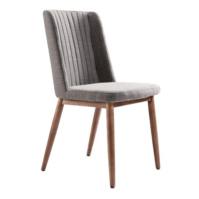 Set of 2 Hyder Mid Century Dining Chair Gray - Modern Home