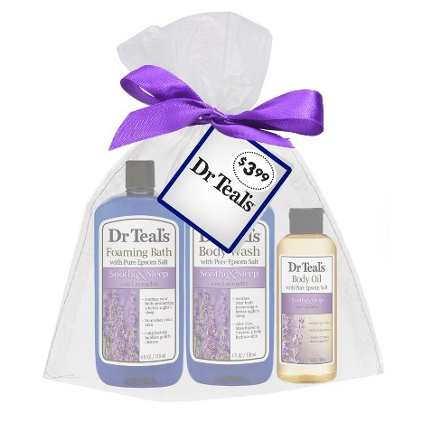 Dr Teal's Soothe & Sleep Bubble Bath Stocking Stuffer - 3pc - image 1 of 1