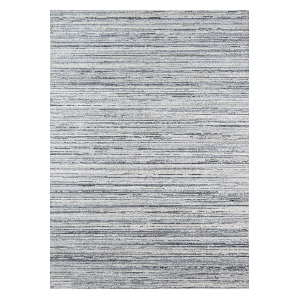 5'X8' Stripe Loomed Area Rug Gray - Momeni