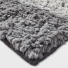 """48""""x66"""" Rugby Striped Shag Rug Gray/White - Pillowfort™ - image 2 of 2"""