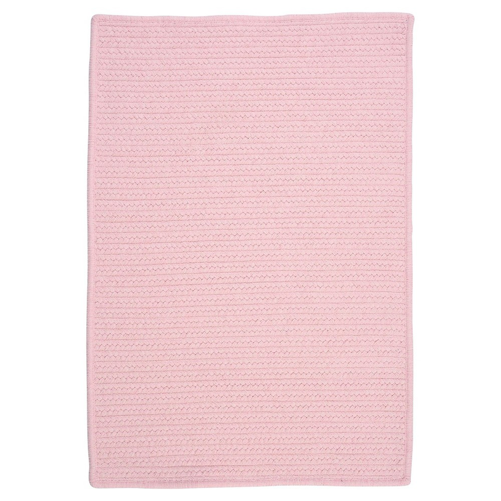 Westminster Wool Blend Braided Area Rug Blush Pink 7 X9 Colonial Mills