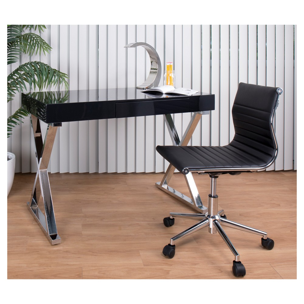 Luster Contemporary Desk - Black - Lumisource