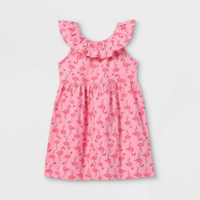 Toddler Girls' Flamingo Ruffle Tank Dress - Just One You® made by carter's Pink