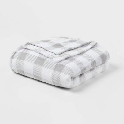 Twin/Twin XL Value Plush Holiday Print Bed Blanket - Wondershop™