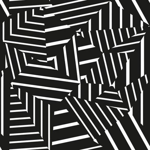 Tempaper Dazzle Self-adhesive Removable Wallpaper Black ...