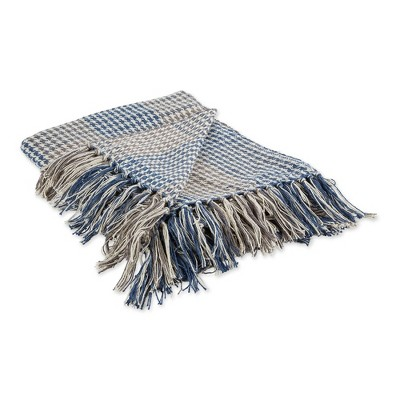"""50""""x60"""" Houndstooth Plaid Throw Blanket - Design Imports"""