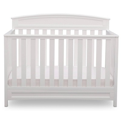 Delta Children Sutton 4-in-1 Convertible Crib, Greenguard Gold Certified - White