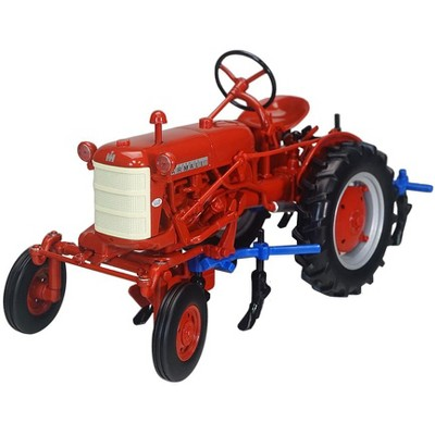 """International Harvester Farmall Cub Tractor with 4 Row Cultivator Red """"Classic Series"""" 1/16 Diecast Model by SpecCast"""