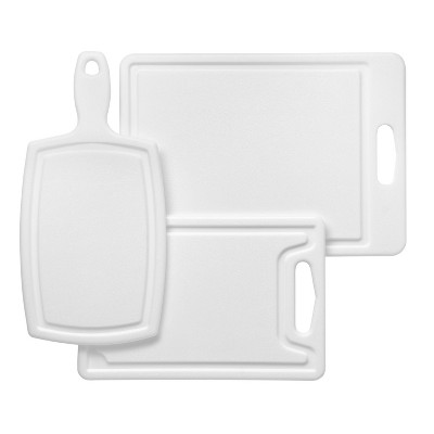 Chicago Cutlery Polyworks 3pc Poly Cutting Board Set