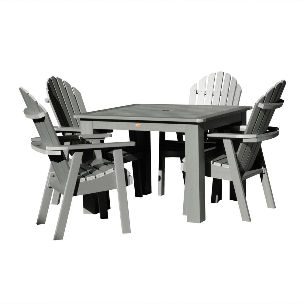 Hamilton 5pc Square Dining Set Coastal Teak Gray- Highwood, Coastal Teak Gray