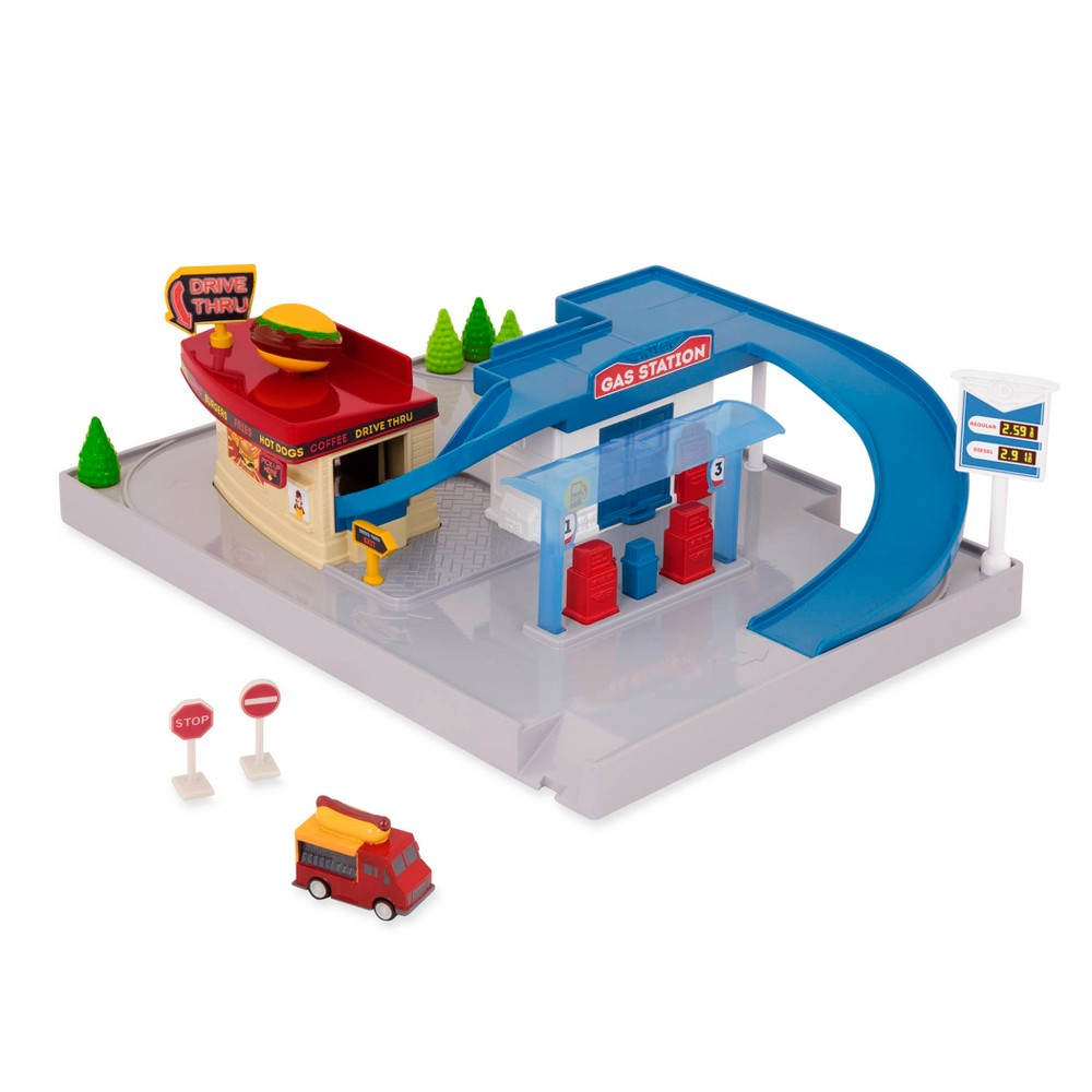 Driven – Pocket Series – Gas Station Playset (4 pc)