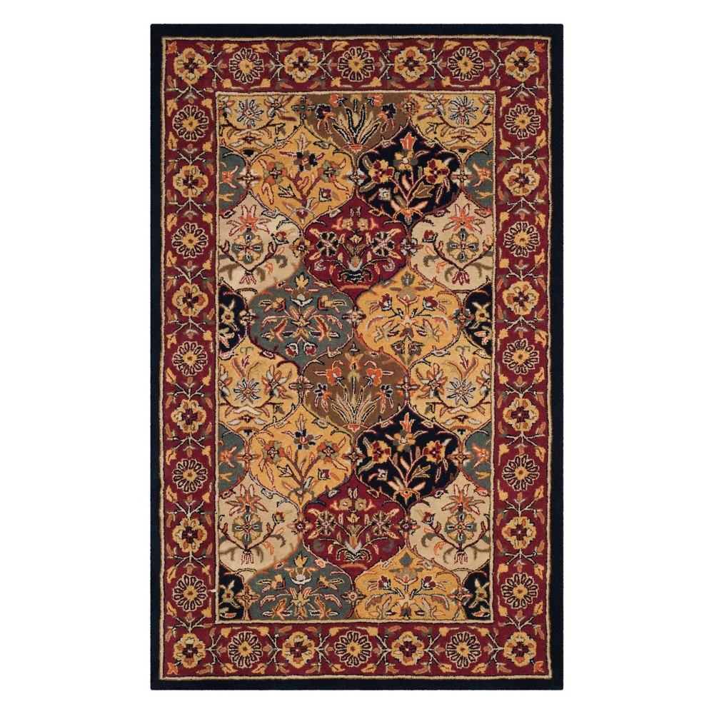 4'X6' Floral Area Rug Navy - Safavieh, Multi-Colored/Blue