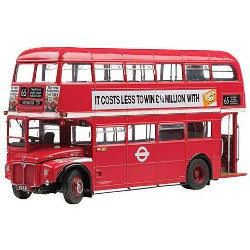 1958 Routemaster Double Decker Bus RM21-VLT 21 The GLC Years Red Limited Edition 1999pcs 1/24 Diecast Model by Sunstar