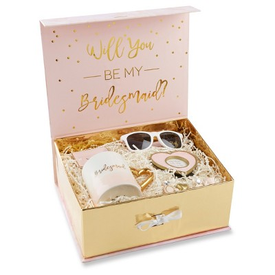 """""""Will You Be My Bridesmaid"""" Wedding Kit Gold"""
