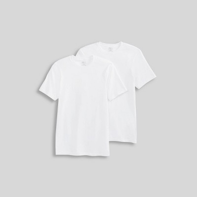Jockey Generation™ Men's Short Sleeve Cotton 2pk Crew Neck T-Shirt - White 2XL