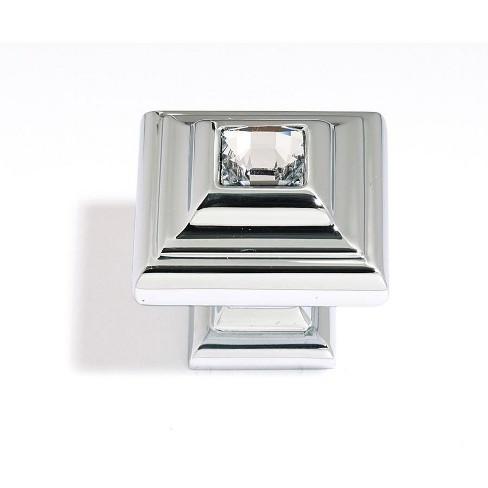 "Alno C213 Crystal 1-1/4"" Square Cabinet Knob - image 1 of 1"